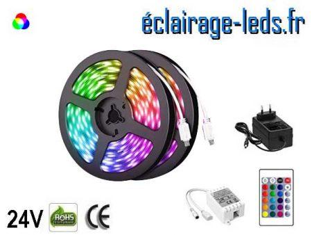 Kit bandeau LED de 10 mètres RGB 24V DC