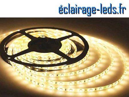 Kit Bandeau LED 10m Blanc chaud IP65 12v DC