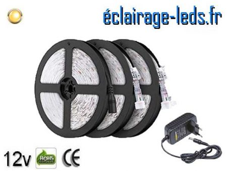 Bandeau LED de 15m Blanc chaud IP65 12v