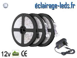 Kit Bandeau LED 15m de couleur Blanc froid IP65