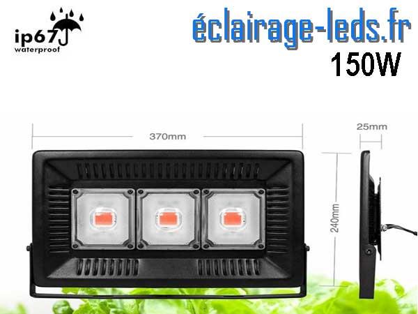 Projecteur LED Horticole 150w plein spectre IP67 2