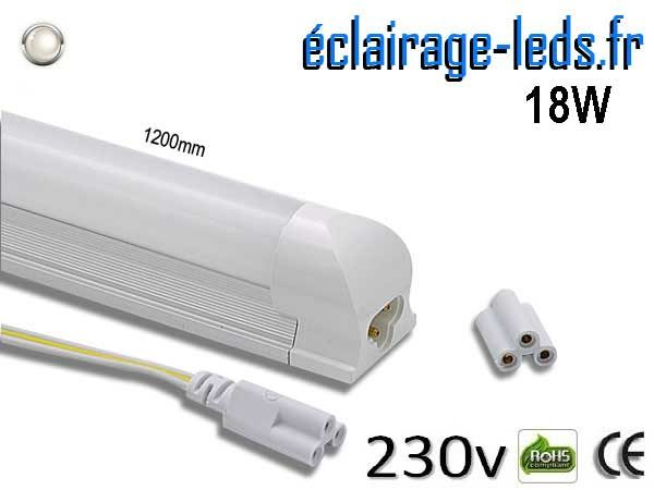 Tube LED T8 120cm 18w blanc naturel 230v AC