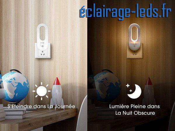 Veilleuse LED automatique sur prise électrique mod. anneau 230v