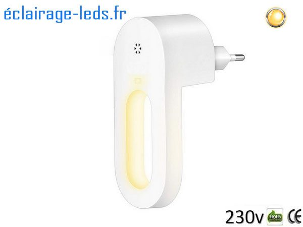 Veilleuse LED automatique sur prise électrique mod. anneau