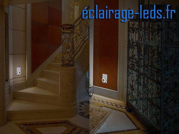 Veilleuse LED automatique sur prise électrique