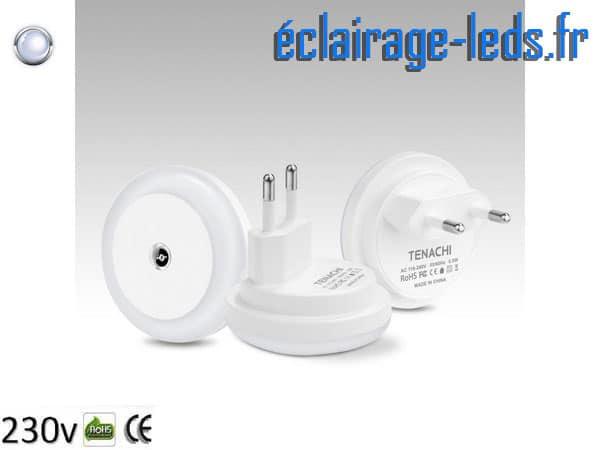 Veilleuse LED automatique sur prise