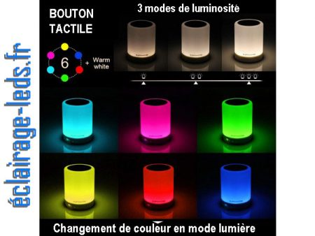 Veilleuse LED Bluetooth RGB portable rechargeable