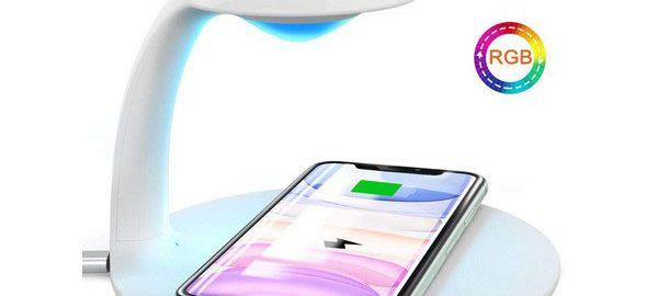 Veilleuse LED Tactile Chargeur Induction Qi
