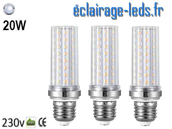 Ampoules LED E27 maïs 20W blanc 230v