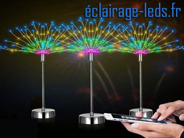 3 Arbres à LED 48CM RGB 108 led contrôle via Smartphone