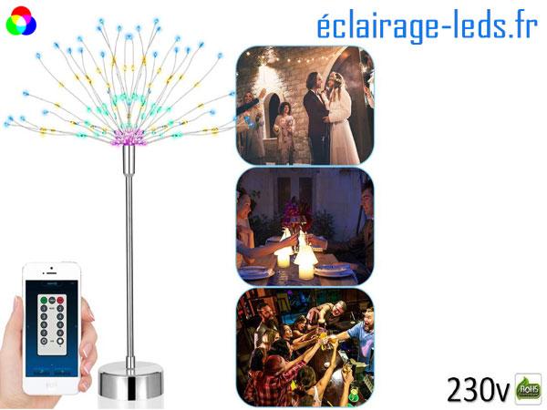 Arbre LED 48CM Multi-couleur contrôle via Smartphone