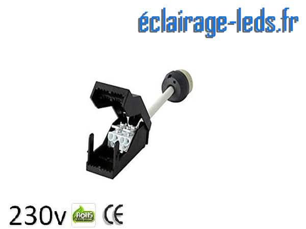 Douille LED GU10 fixation rapide raccord protégé 230v