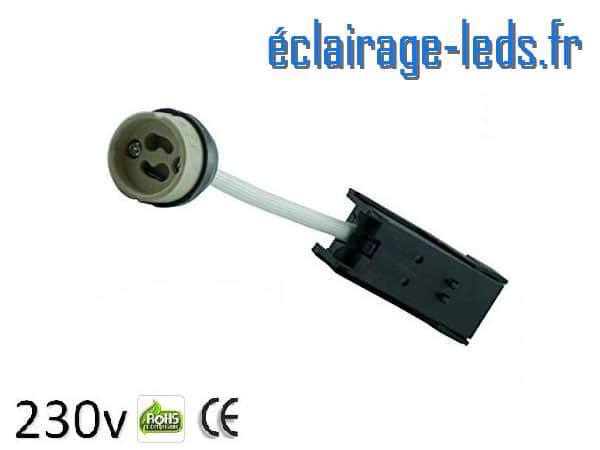 Douille LED GU10 raccord protégé 230v