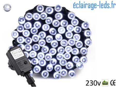 Guirlande LED 10M Blanc froid 100 led IP44 230v