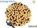 Guirlande LED 20M Blanc chaud 200 led IP44 230v