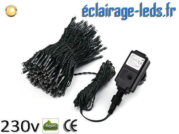 Guirlande LED 20m Blanc chaud IP44 230v