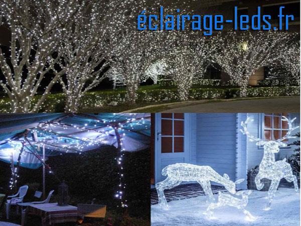 guirlande à LED 20m blanc 200 LED étanche 230v