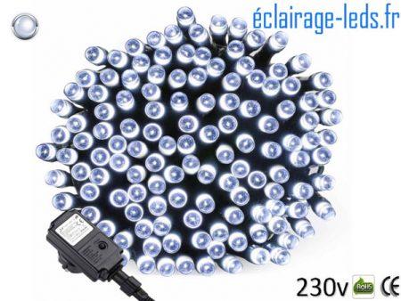 Guirlande LED 20M Blanc 200 led étanche IP44 230v