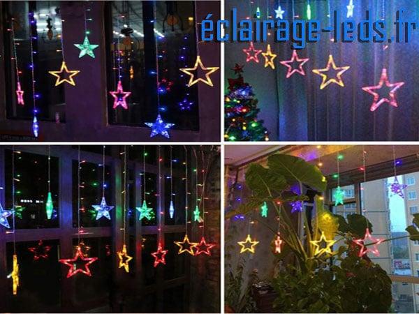 guirlandeà LED 2m multi-couleur12 Étoiles étanche 230v