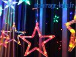 Guirlande LED 2M Multi-couleur 12 Étoiles IP44 230v