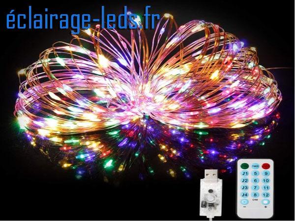 Guirlande LED musicale 20M multi-couleur 200 led USB IP65