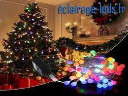 guirlande lumineuse 100 led multi-couleur