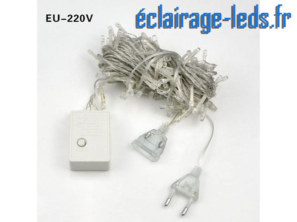 Guirlande lumineuse de 100 LEDS blanc chaud