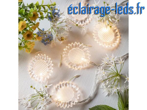 Guirlande lumineuse à LED de 2.85m 20 fleurs