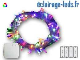 Guirlande LED 21.5M | multi-couleur-200 led à pile