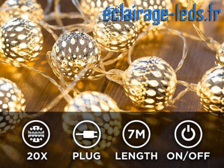 Guirlande lumineuse LED 7M blanc chaud