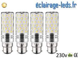 4 ampoules LED B22 maïs 15W blanc chaud 230v
