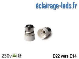 Adaptateur B22 vers Ampoule LED E14