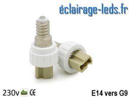 Adaptateur E14 vers Ampoule LED G9