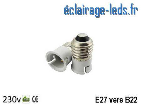 Adaptateur E27 vers Ampoule LED B22