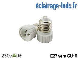 Adaptateur E27 vers Ampoule LED GU10