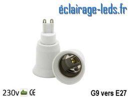 Adaptateur G9 vers Ampoule LED E27