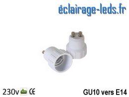 Adaptateur GU10 vers Ampoule LED E14