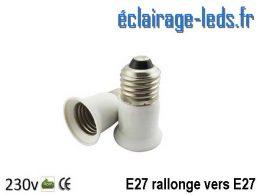 Adaptateur rallonge courte E27 vers E27