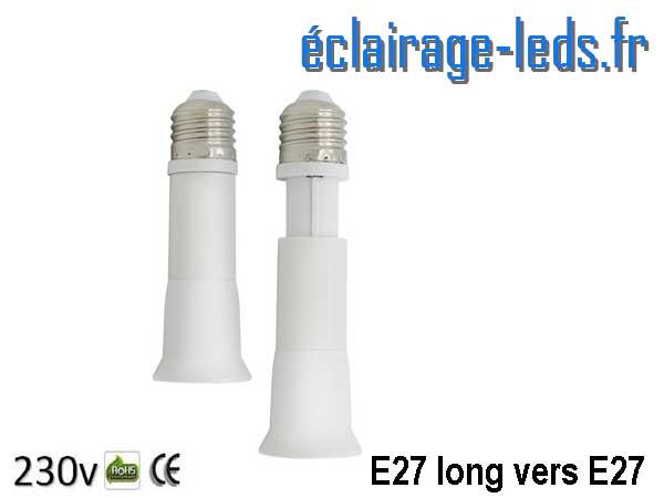 Adaptateur rallonge longue E27 vers E27