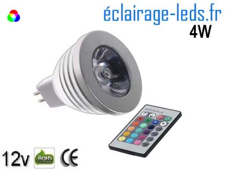 Ampoule LED MR16 RGBW 4W 12v