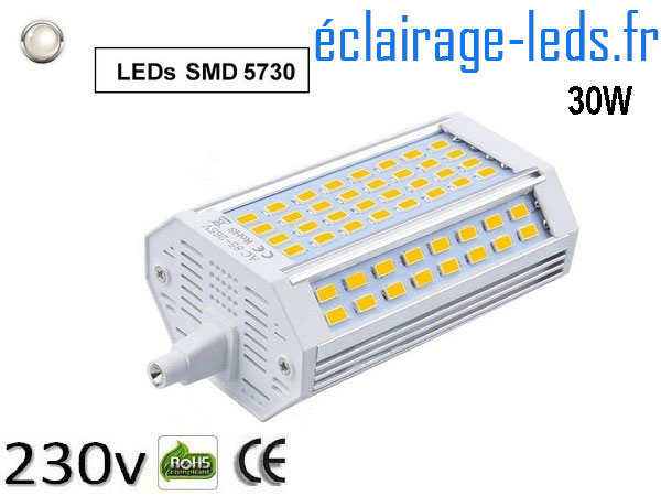 Ampoule led R7S 30w dimmable Blanc naturel 230v