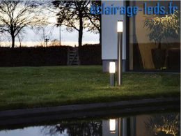 Lampadaires LED 110cm blanc chaud IP44