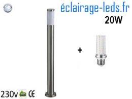 Lampadaires LED 110cm chrome 20W