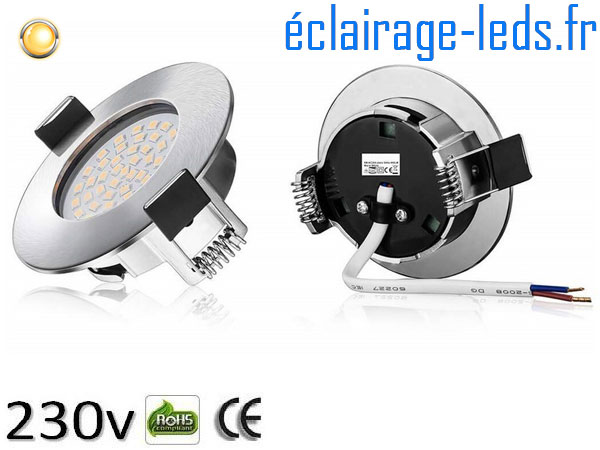 Spot led Encastrable Fixe 5W Ultraslim Blanc Chaud 230V IP44