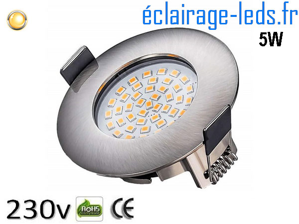 Spot led Encastrable Fixe 5W Ultraslim Blanc Chaud