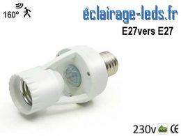 Douille E27 vers E27 détecteur de présence 160°