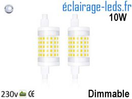 Ampoule Led R7S 10w Dimmable 78mm Blanc Froid 230v
