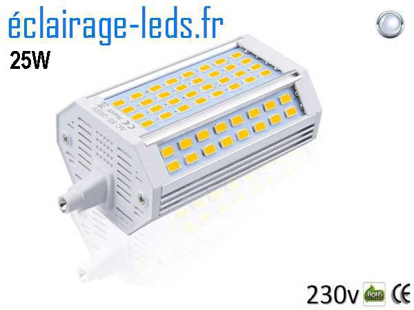 Ampoule led R7S 25w Blanc froid 118mm 230v