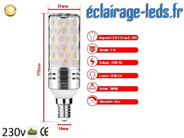 Ampoules LED E14 maïs 15W