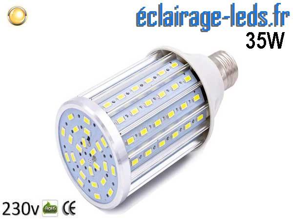 Ampoule LED E27 maïs 35W Blanc chaud 230v